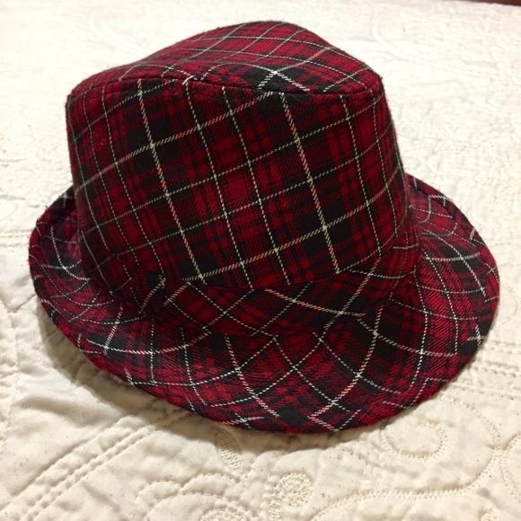 3ca537a23024e Cute Tartan Plaid Fedora Hat - Red Black   White. M 5b15e510e944bae2892a1448